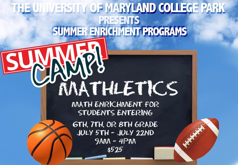 UMD Mathletic Summer Camp