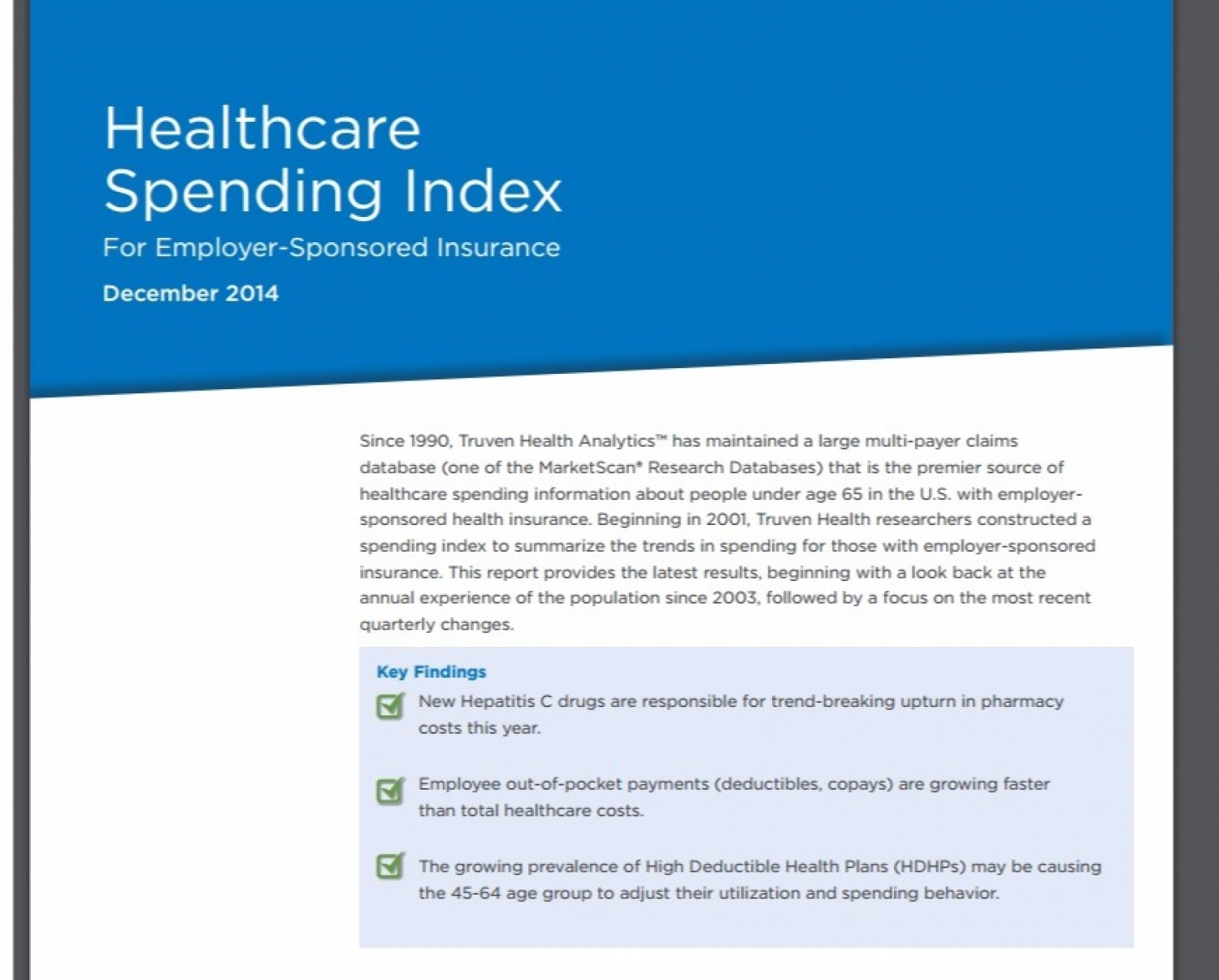 Health Care Spending Index 2014 pdf