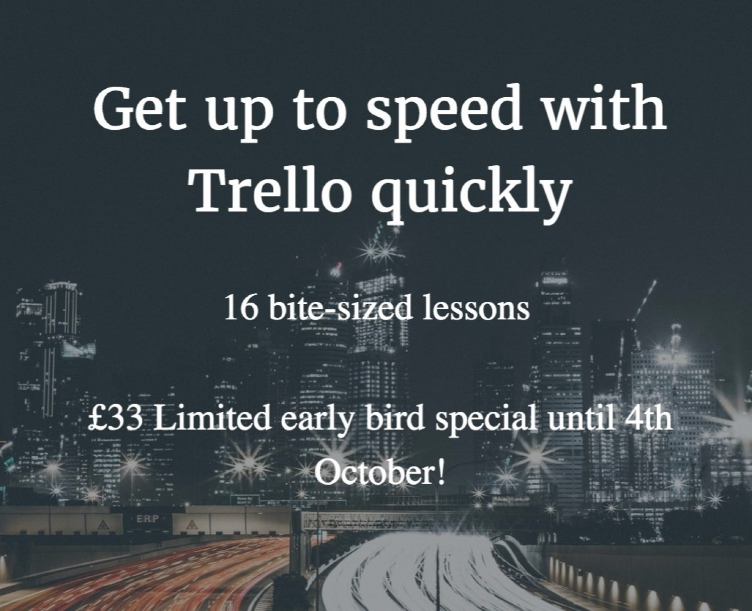 Limited Offer Trello Course Signup
