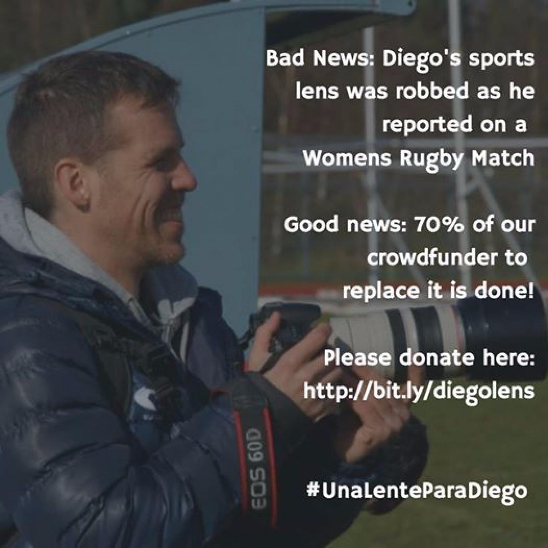 Una lente para Diego! A lens for Diego!