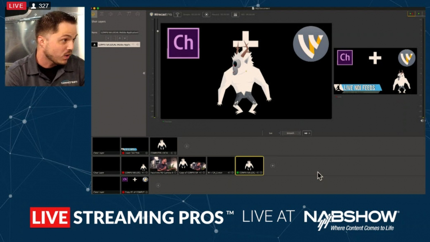 Wirecast introduces the ability to create animations in live streams, powered by Adobe