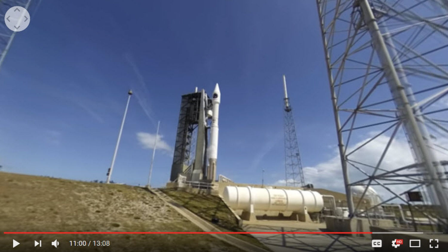 Watch a replay of the world`s first live 360 rocket launch