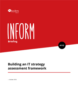 Front cover for Briefing 113 - Building an IT strategy assessment framework