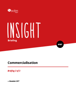 Publication: Briefing 107 - Commercialisation