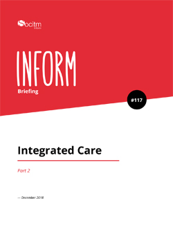 Front cover for Briefing 117: Integrated Care. Part 2