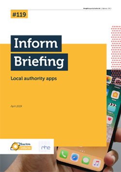 Publication: Briefing 119: Local authority apps