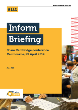 Front cover for Briefing 122: Share Cambridge 2019