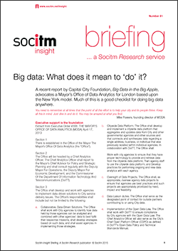 Publication: Briefing 81: Big data What does it mean to do it