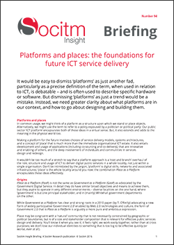 Briefing 94: Platforms and places: the foundations for future ICT service delivery