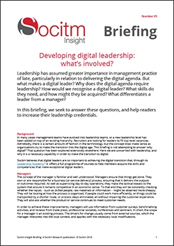 Briefing 95: Developing digital leadership: what's involved?