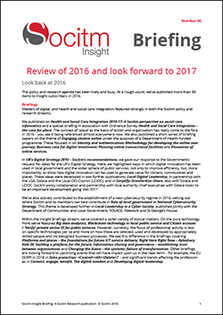 Briefing 96: Review of 2016 and look forward to 2017