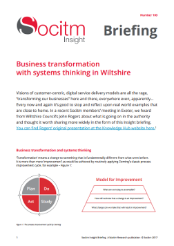 Briefing 100: Business transformation with systems thinking in Wiltshire