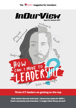 Publication: In Our View (Issue 12) - How can I move to Leadership?
