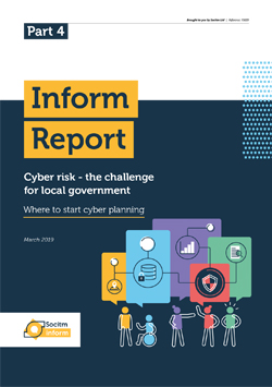 Front cover for Inform Report - Cyber risk - where to start cyber planning - Part 4