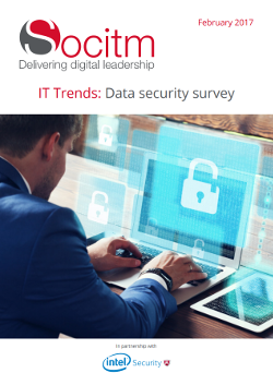 IT Trends: Data security survey