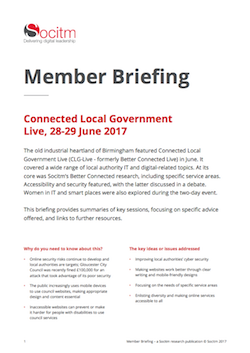 Member Briefing - Connected Local Government Live, 28-29 June 2017