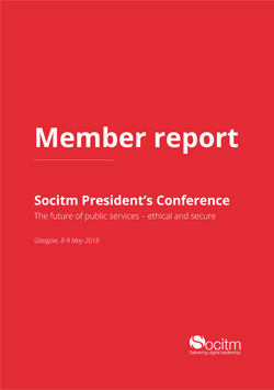 Member report - Presidents Conference.  The future of public service - ethical and secure