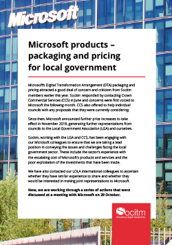 Front cover for Microsoft products – packaging and pricing for local government