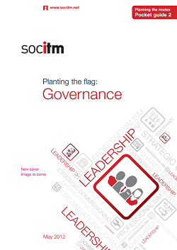 Publication: Planning the Routes Pocket Guide 2 - Governance