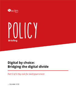Policy Briefing - Digital by choice: Bridging the digital divide - Part 3
