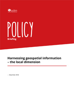 Policy Briefing - Harnessing geospatial information – the local dimension