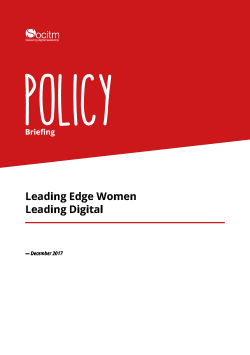 Publication: Policy Briefing - Leading Edge Women Leading Digital
