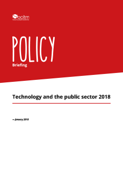 Policy Briefing - Technology and the public sector 2018