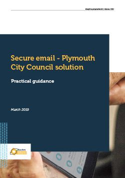 Front cover for Practical guide: Secure email - Plymouth City Council solution