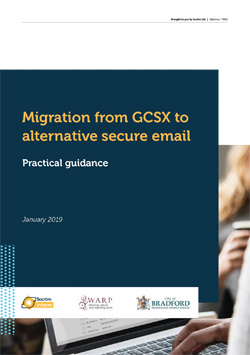 Front cover for Practical guide - Migration from GCSX to alternative secure email