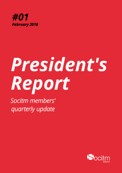 Front cover for President's Report #1/2018