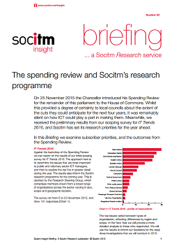 Publication: Topical Briefing 84: The spending review and Socitms research programme