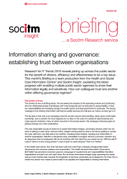 Publication: Topical Briefing 85: Information sharing and governance
