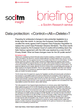 Topical Briefing 87: Data protection - CONTROL ALL DELETE