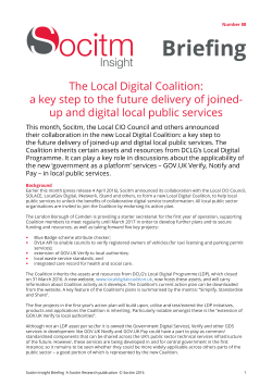 Publication: Topical Briefing 88: The Local Digital Coalition