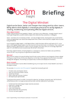 Topical Briefing 90: 15 steps to a digital mindset