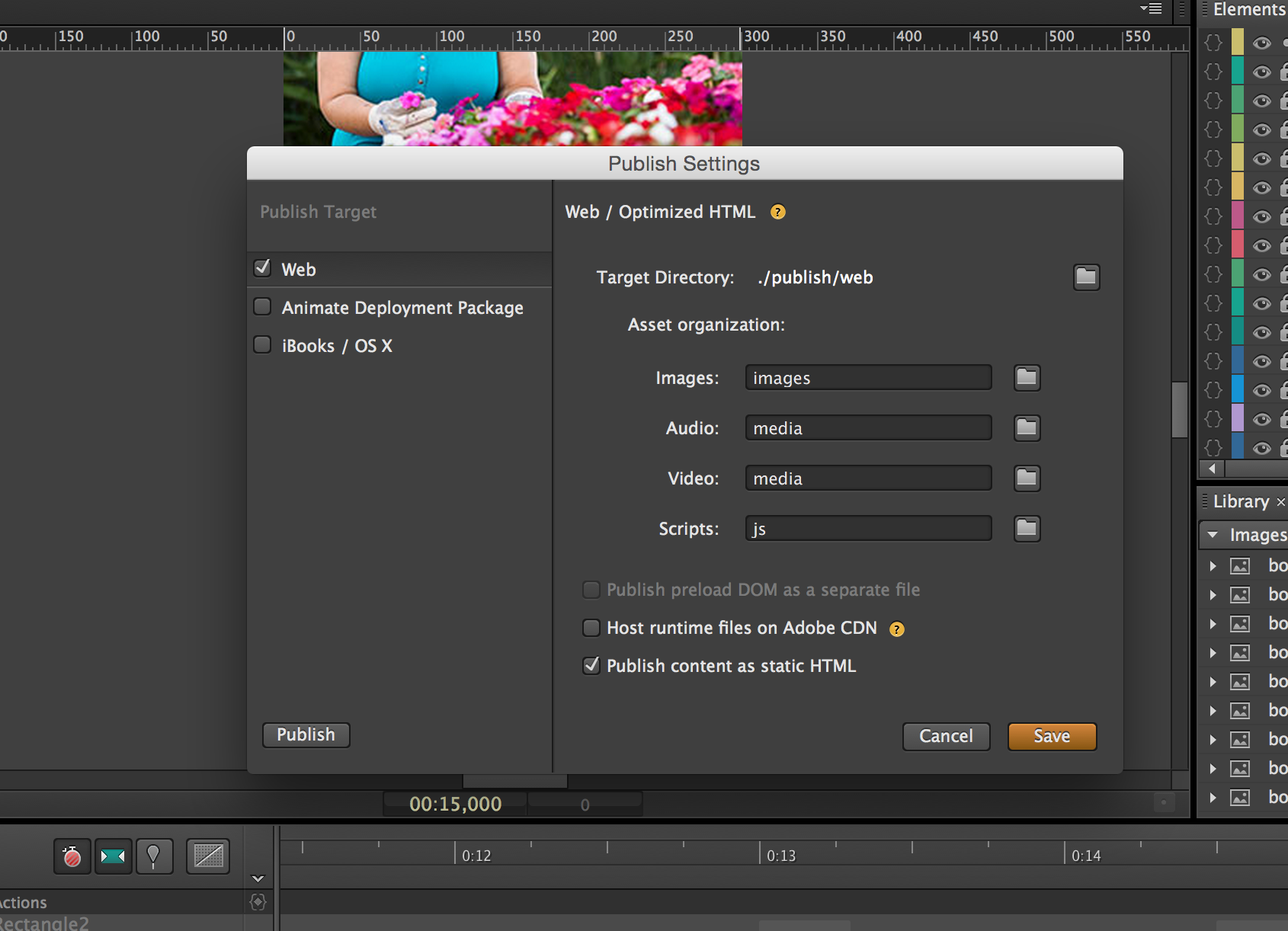 How to prepare and Adobe Edge Animate file for uploading