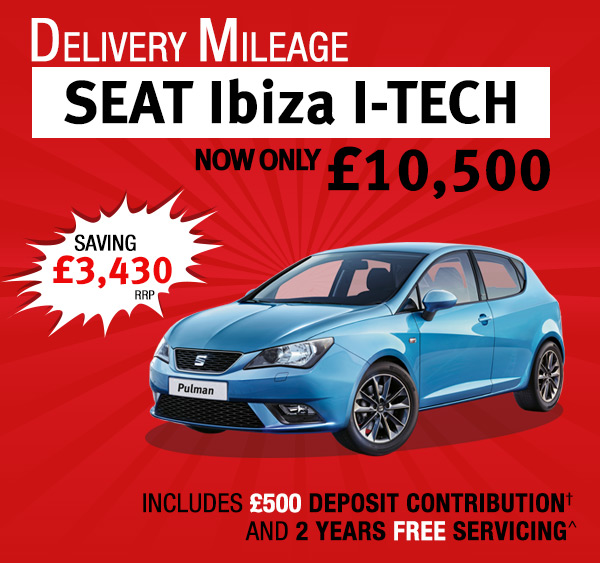 Delivery Mileage Ibiza I-TECH - Now only £10,500