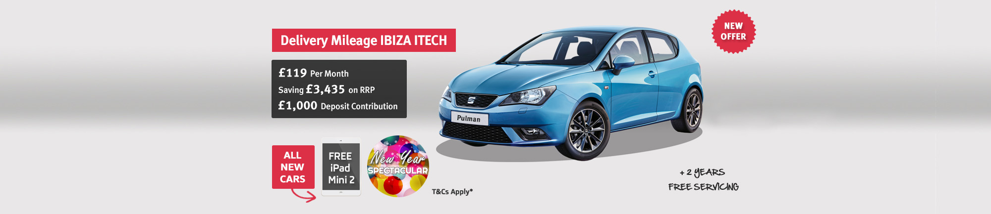 SEAT Ibiza I-tech Delivery Mileage - Saving £3,435 on RRP