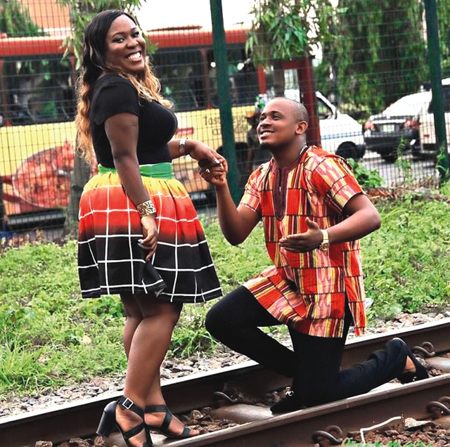 Omike and Boleigha share a special moment on the rail track
