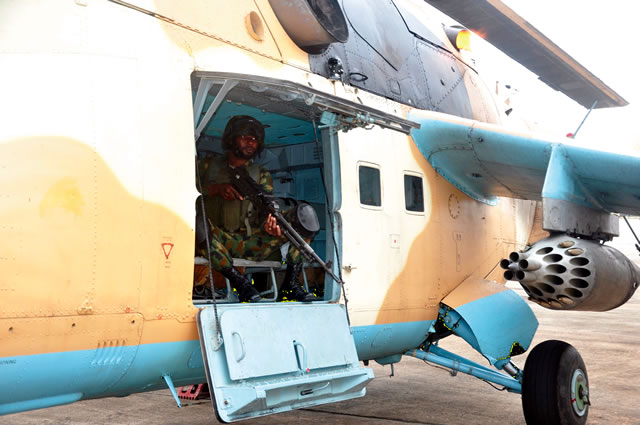 A NAF official in a plane