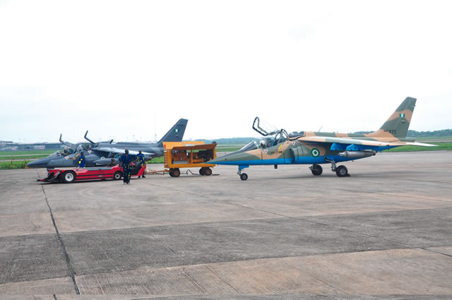 Fighter jets used for the operation