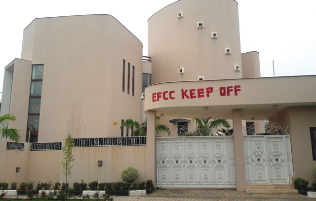 Dikko's mansion located at 1 Audu Ogbeh Street, Jabi, Abuja... on Wednesday