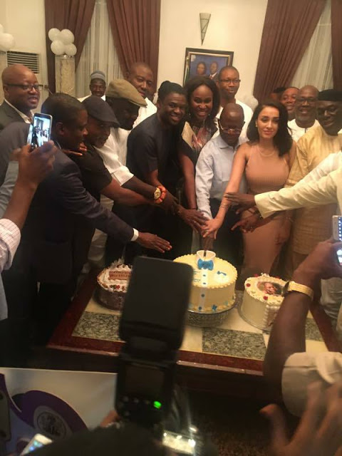 Photos: Oshiomhole at 65, celebrate with Family, friends