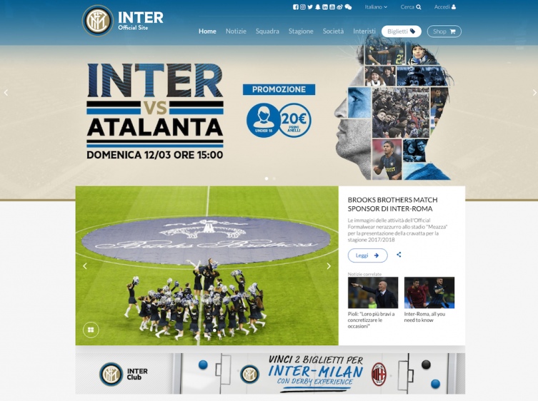 il codice del nuovo Frontend di Inter Football Club è firmato Purple