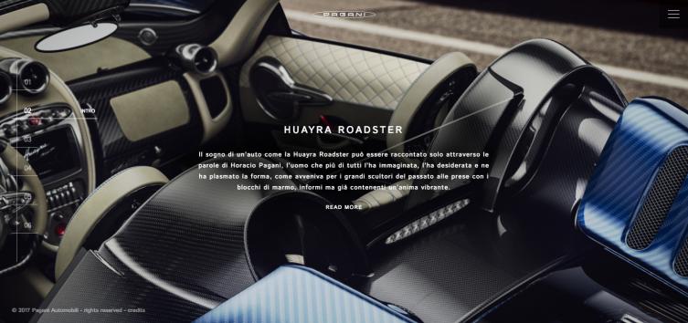Intro Pagani Huayra Roadster Horacio Pagani
