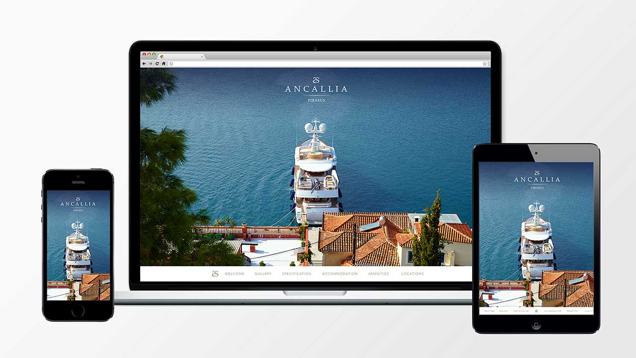 Ancallia responsive website