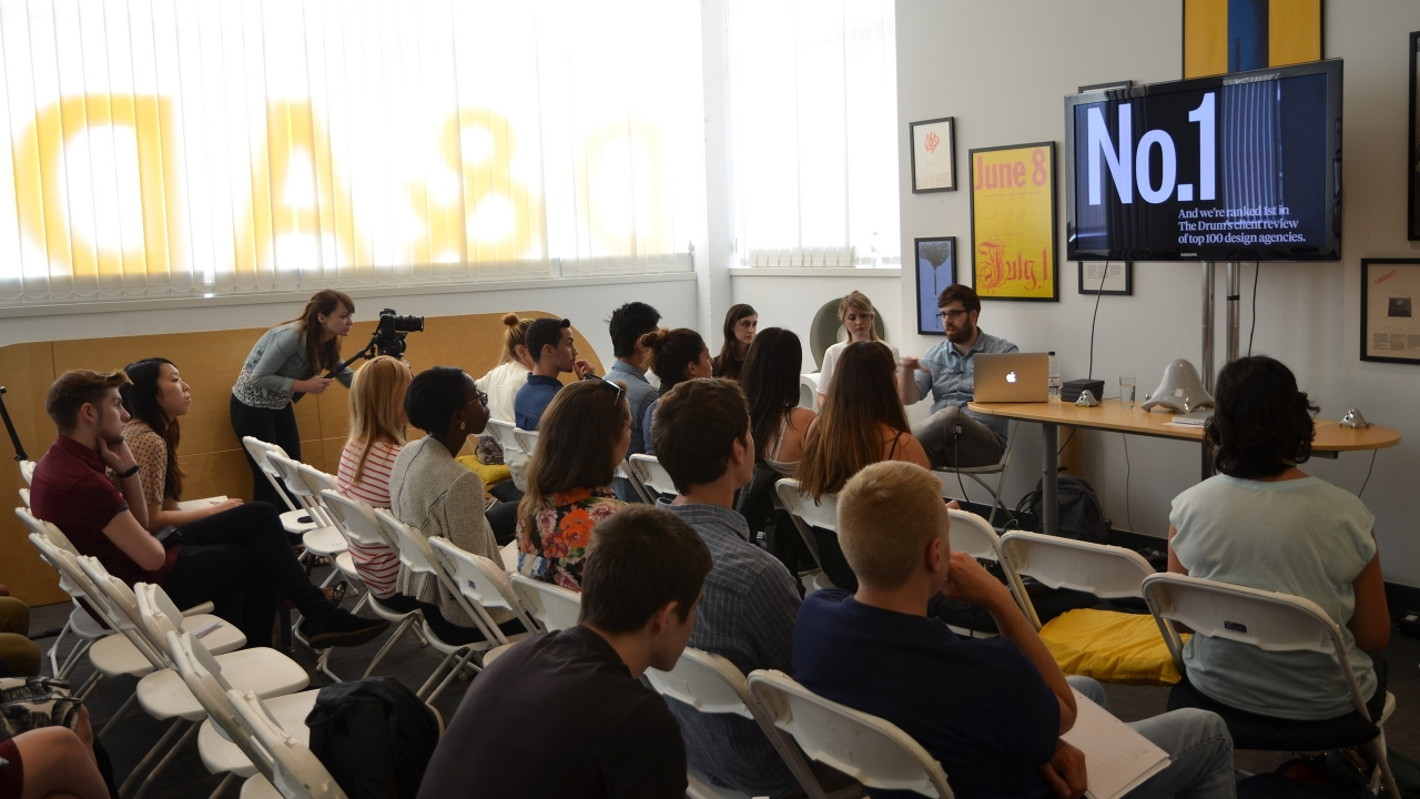 Q&A session at D&AD New Blood