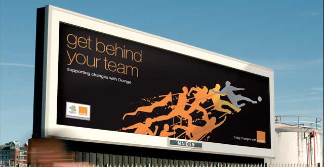 Orange Football – Billboard