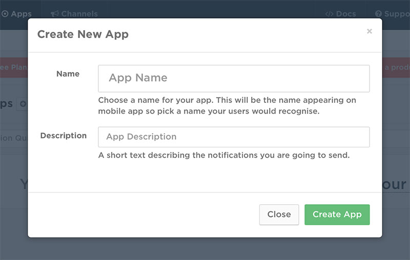 Get Started: Create New App