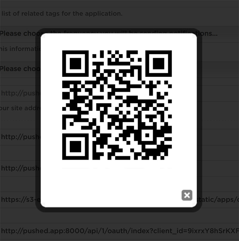 Get Started: Open QR Subscription Code